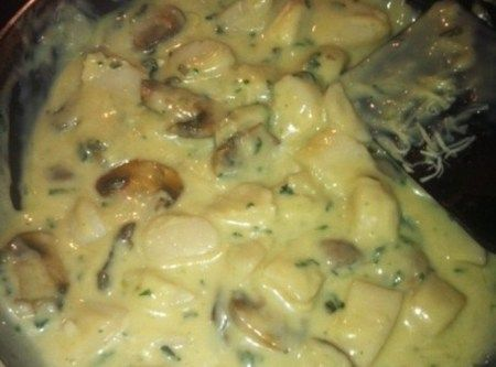 Sea Scallops in a Swiss Cheese Wine Sauce | Recipe ...