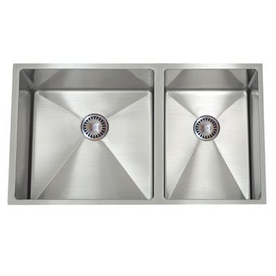 Lenova 30 X 10 Permaclean Undermount Double Bowl Kitchen Sink