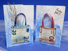 Geldgeschenk Karten – Bastelanleitung