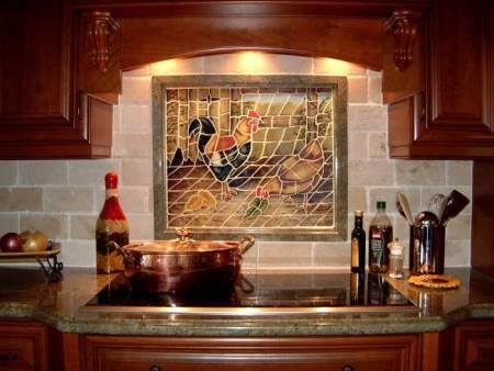 Incroyable Rooster KITCHEN | Rooster And Hen Inlaid In The Blacksplash Tile. We Can  Also Provide .