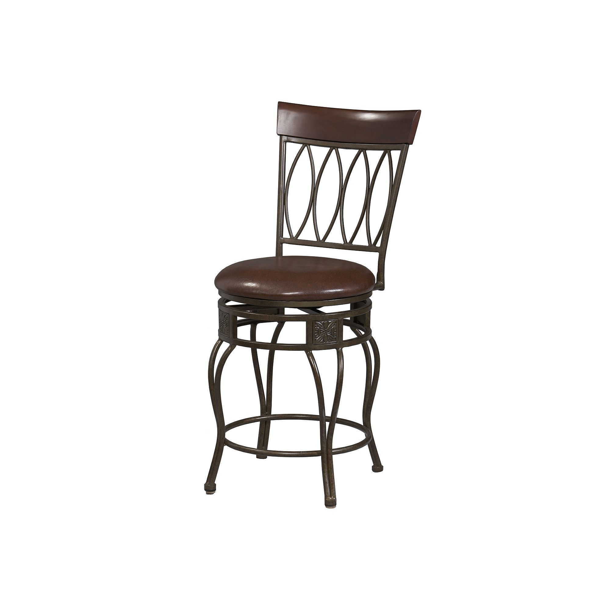 Linon Oval Back Bar Stool Multicolor 30 Inch Bar Stools
