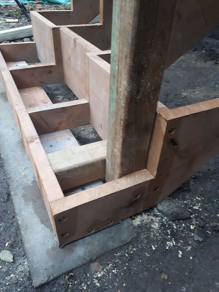 Attaching Bottom Deck Posts Thisiscarpentry Deck Posts Deck Design Diy Deck