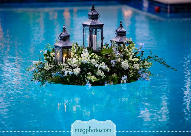 Gorgeous Pool Decorations For Weddings | Pool decorations, Belle and ...