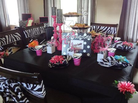 zebra birthday idea Barbie Parties Party Decorations Pink