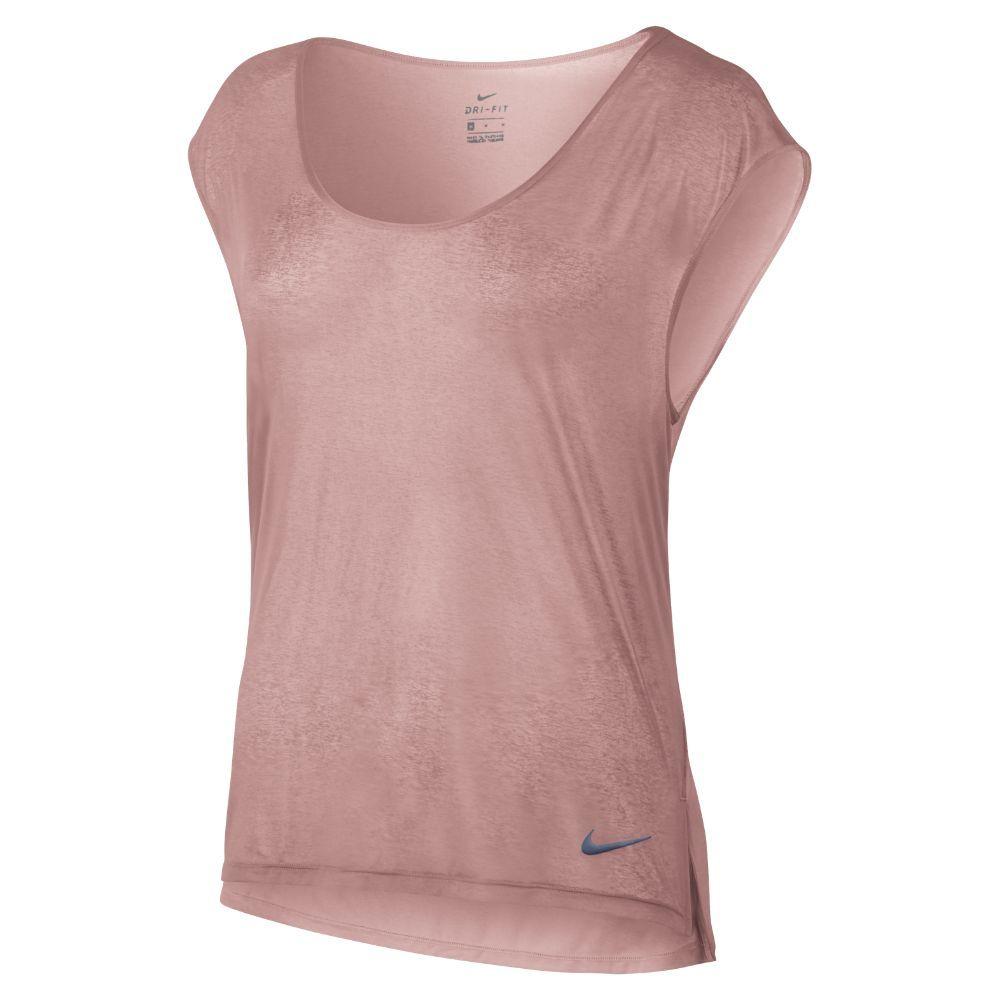 0238226d1d11f Nike Breathe Cool Women s Short Sleeve Running Top Size Medium (Pink ...