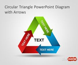 Free circular triangle powerpoint diagram with arrows ccuart Choice Image