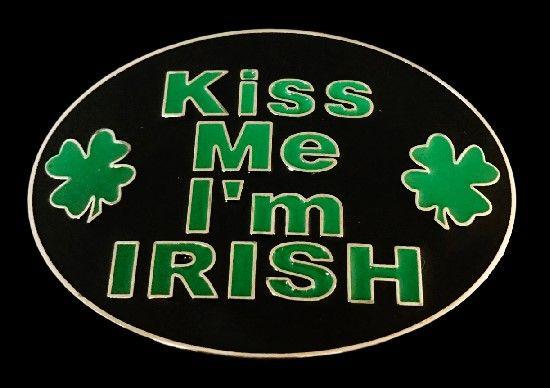 Kiss Me I 'm Irish St.Patricks Day lucky Shamrock Belt Buckle #kissmeimirish #kissmeimirishbeltbuckle #kissmeimirishbuckle #irish #ireland#shamrock #luckyshamrock #fourleafclover #coolbuckle #stpatrick #beltbuckle #buckles