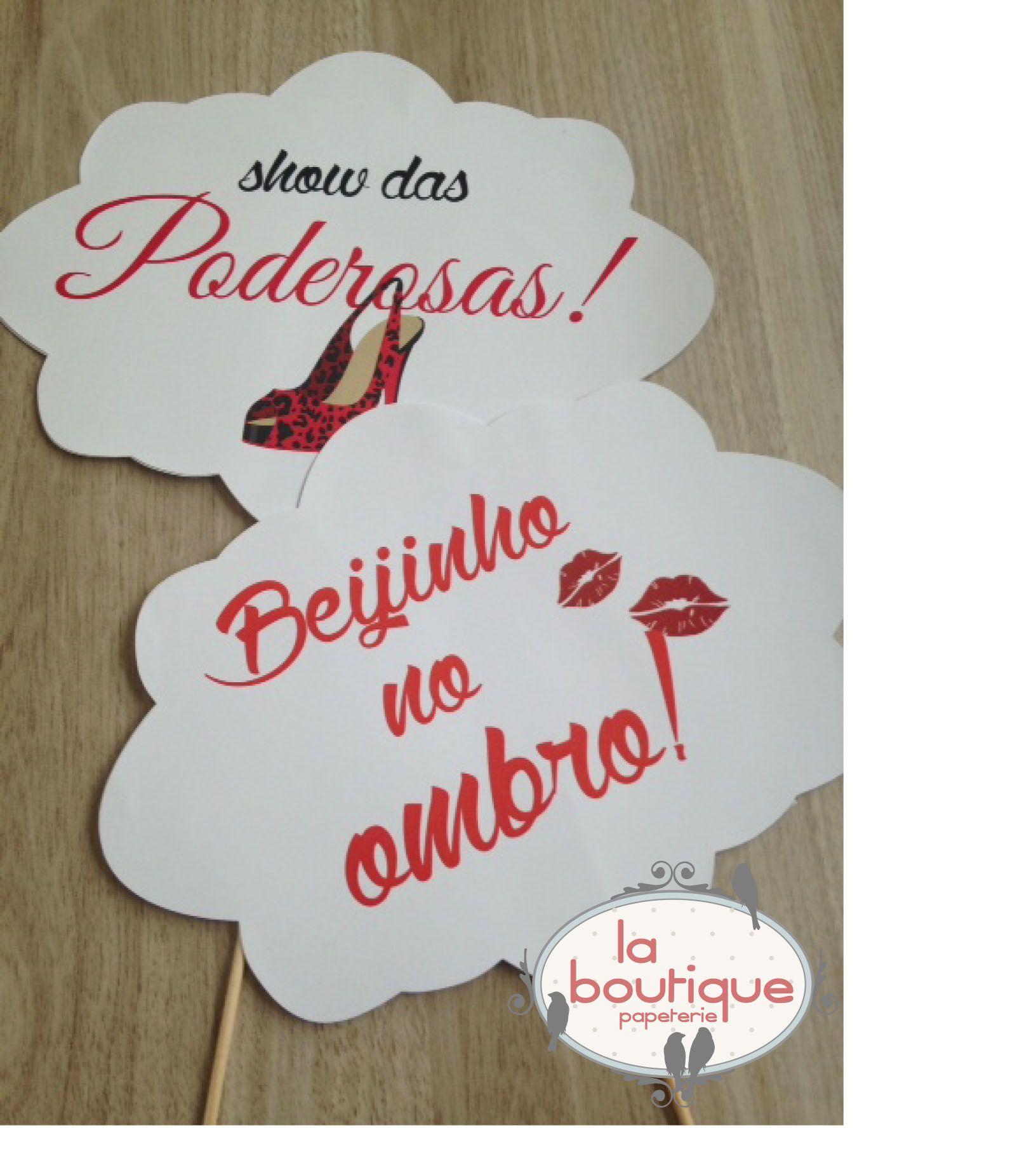 Plaquinhas divertidas para festas by La Boutique Papeterie