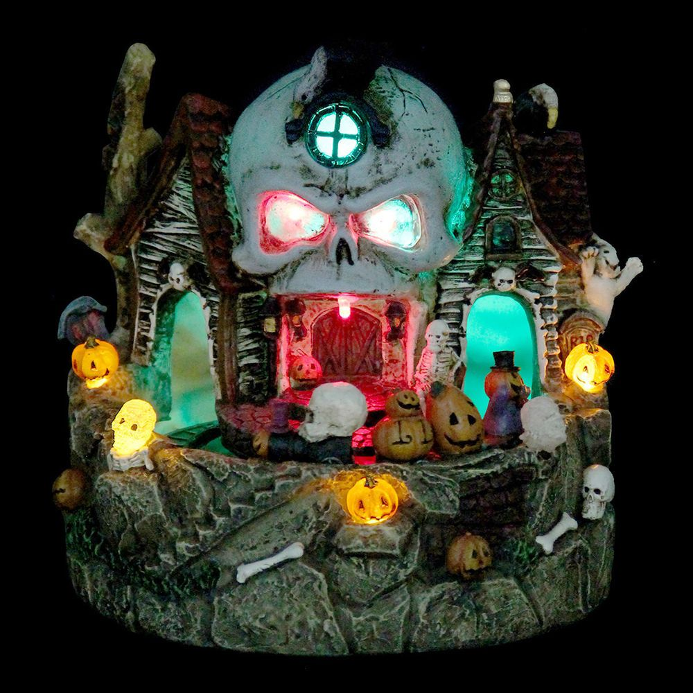 Halloween House Decoration New Festive Skull House with Moving Train - Halloween House Decorating Ideas Outside