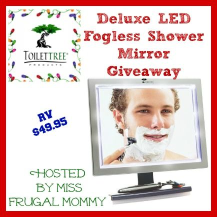 Deluxe LED Fogless Shower Mirror Giveaway One Lucky Fan Is Going To Win A  Deluxe LED