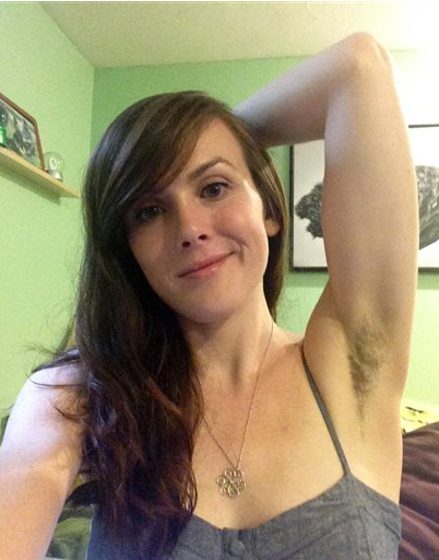 Sexy women with hairy armpits