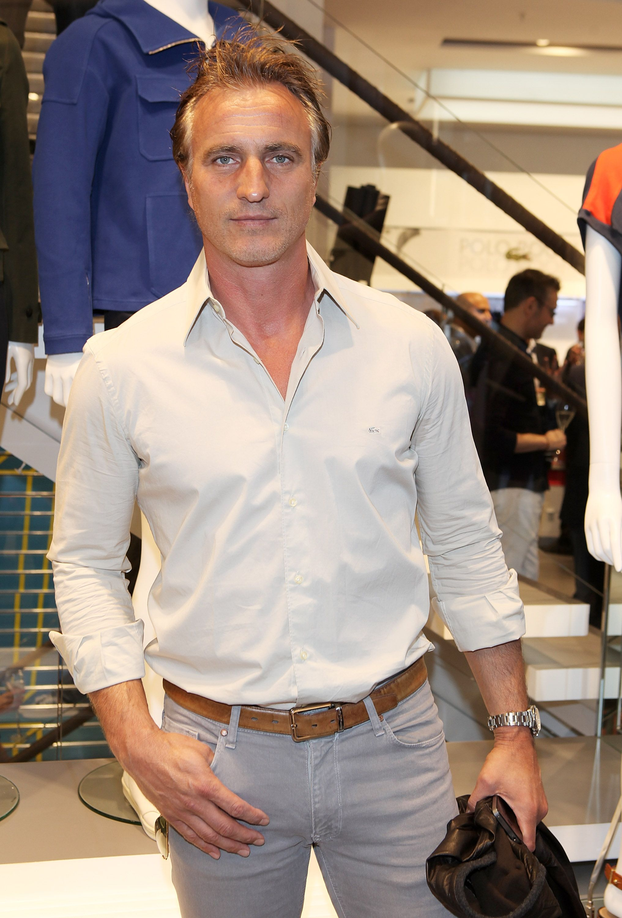 a5198c7b81bf1a David Ginola   the opening party of the largest Lacoste store in the world