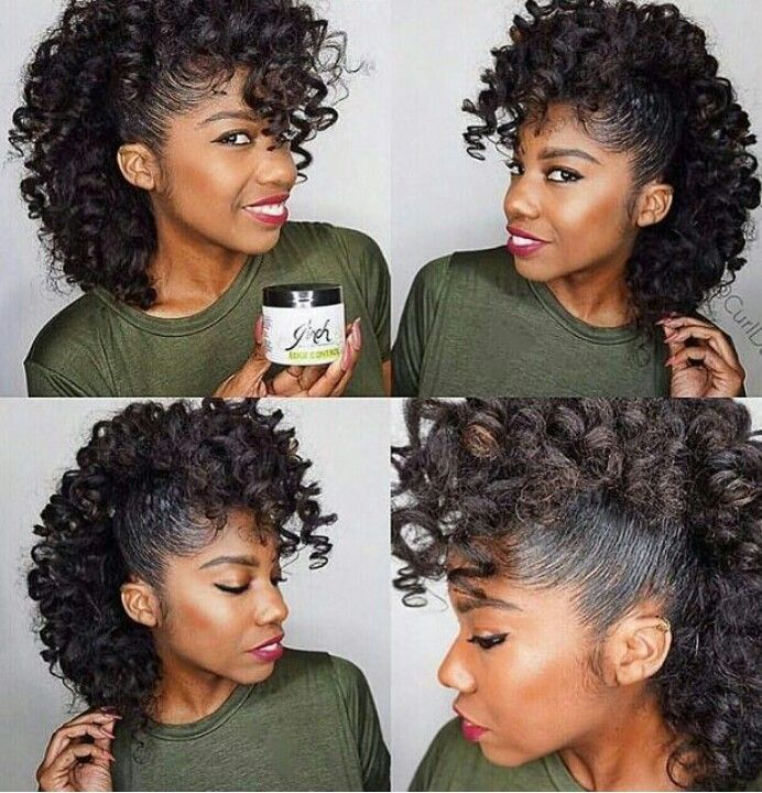 Cute half up half down curlies | Curly hair styles, Natural hair styles, Hair beauty