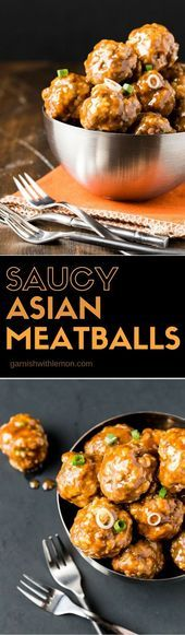 Photo of Who can resist comfort food? These Saucy Asian Meatballs always disappear. Perfe…