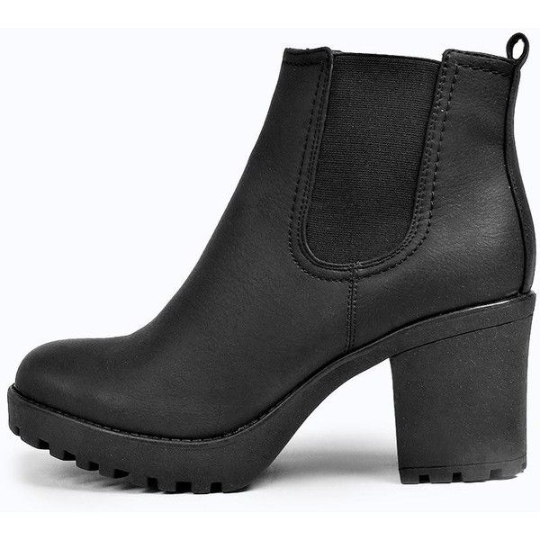 Chunky ankle boots with cleated sole. If you're after ankle