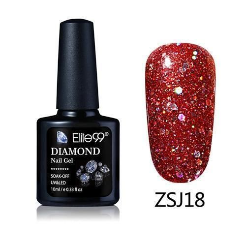 Women UV Diamond Glitter Gel Nail Polish Lacquer