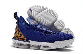 the latest f50cf aa460 Nike LeBron 16 Champion Royal Blue White James Trainers ...