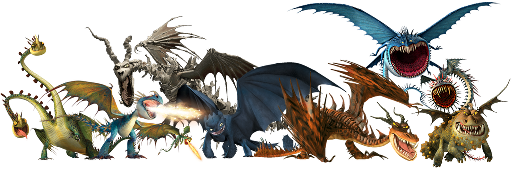 All dragons from how to train your dragon