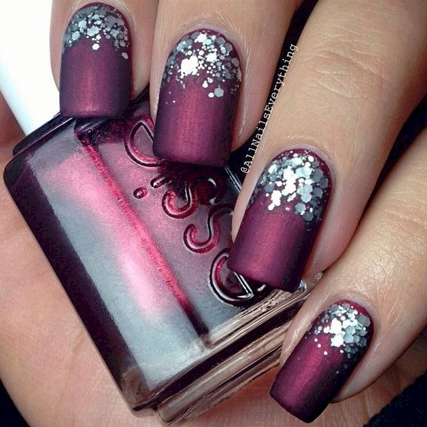 17 Manicures That Will Have You Mad About Matte | Diseños de uñas