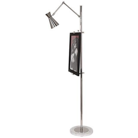Jonathan Adler Bristol Floor Lamp Easel In Polished Nickel