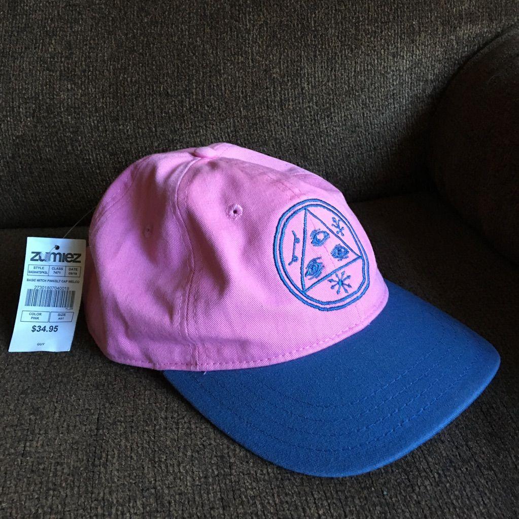 Nwt zumiez pink u blue trippy dad hat dad hats pink blue and dads