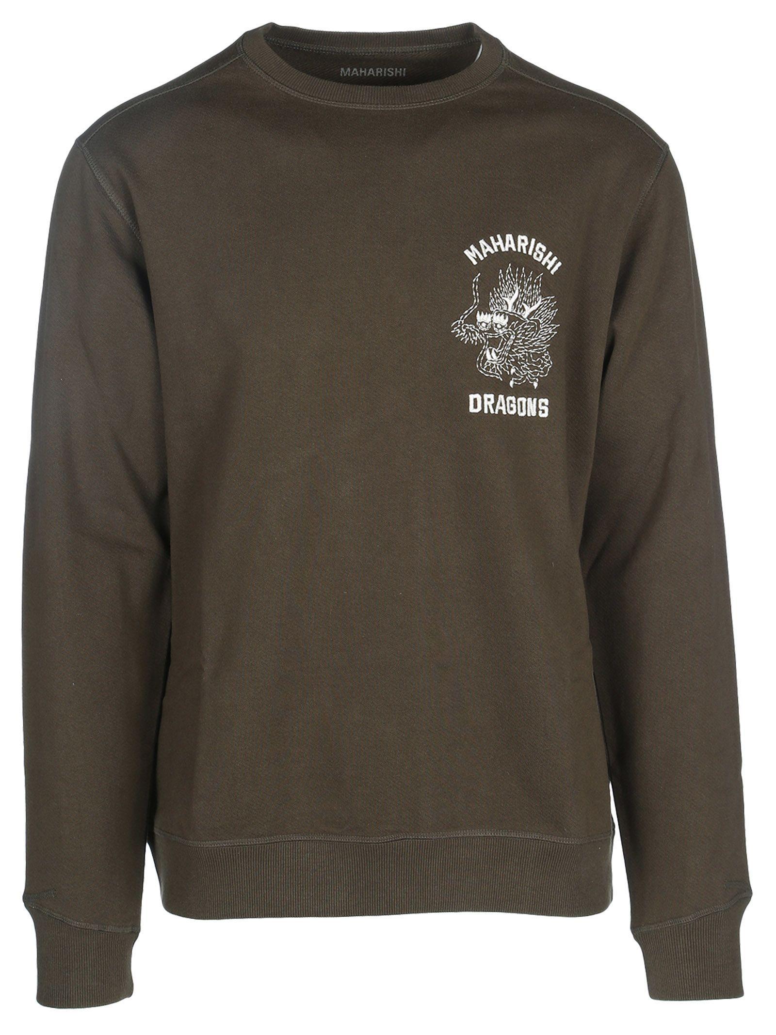 Sweatshirt Maharishi cloth maharishi Dragon Embroidered qxz6BUCw