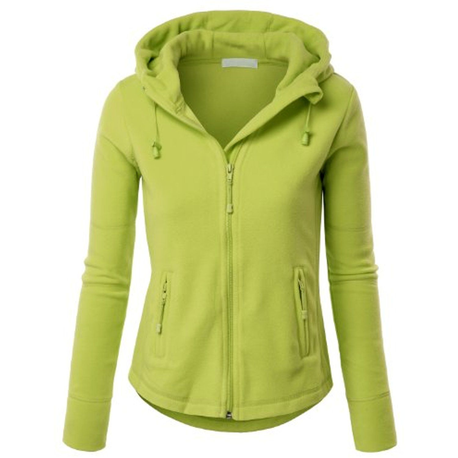 Womens active basic fitted zip up fleece hoodie jacket ueueue visit the
