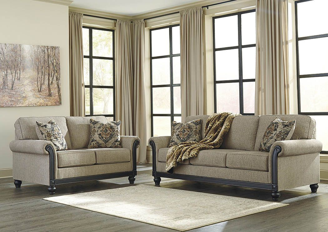 Blackwood Taupe Sofa And Loveseatsignature Designashley  Fox Pleasing Living Rooms Sets Design Ideas