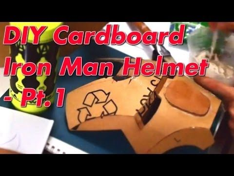 Iron Man Helmet Diy 41 Cardboard Cut Assembly With Template