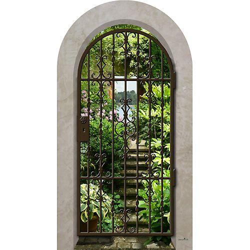 Trompe l\'oeil Arcade Jardin Secret en 2019 | Jardins, Jardin ...