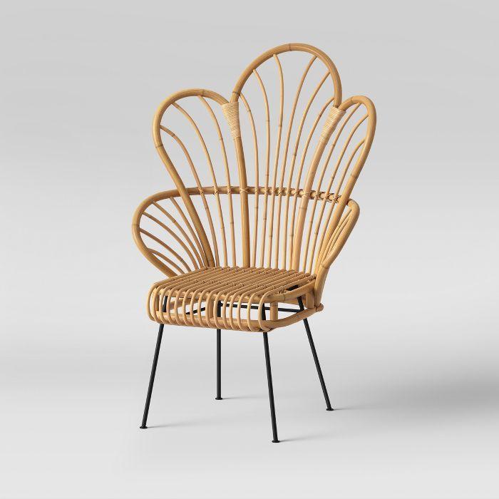 Admirable Opalhouse Avocet Rattan Fan Back Accent Chair Opalhouse Lamtechconsult Wood Chair Design Ideas Lamtechconsultcom