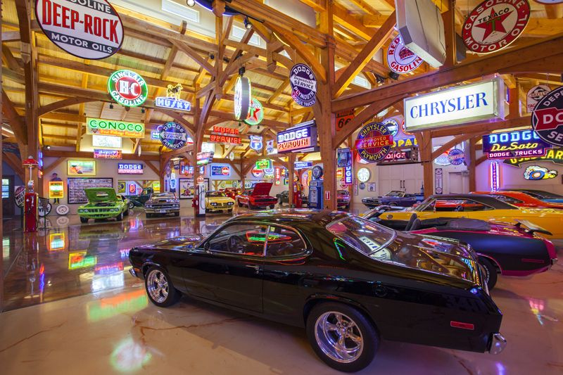 Hemi Hideout Car Cathedral Commercial Timber Frame Project Man Garage Car Barn Luxury Garage