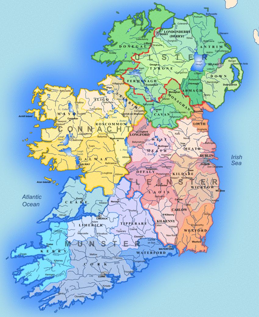 Interactive Jigsaw Map Of Ireland.Ireland Map Map Of Ireland Regions Worldofmaps Net Online