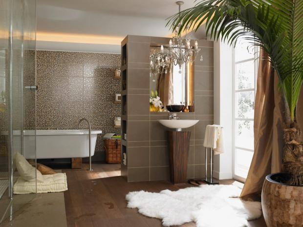 Badezimmer Kolonialstil badarmaturen in warmen tönen waschbecken armaturen kolonialstil