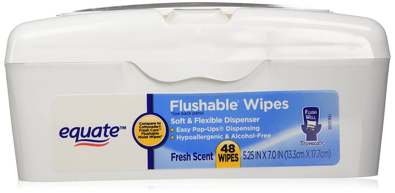 Equate Flushable Wipes in Soft Flexible Dispenser Fresh