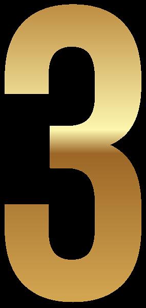 Golden Number Three Png Clipart Image Golden Number Clip Art Clipart Images
