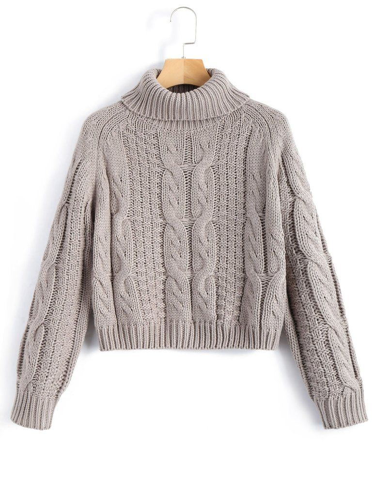 17f138b428855a Turtleneck Knit Crop Top