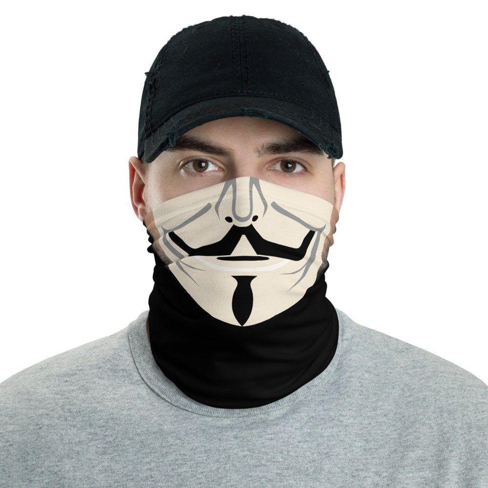 Vendetta Face Mask Neck Gaiter Motorcycle Mask Face Covering Face Shield Man Face Neck Gaiter Diy Face Mask Face Face Shield Masks