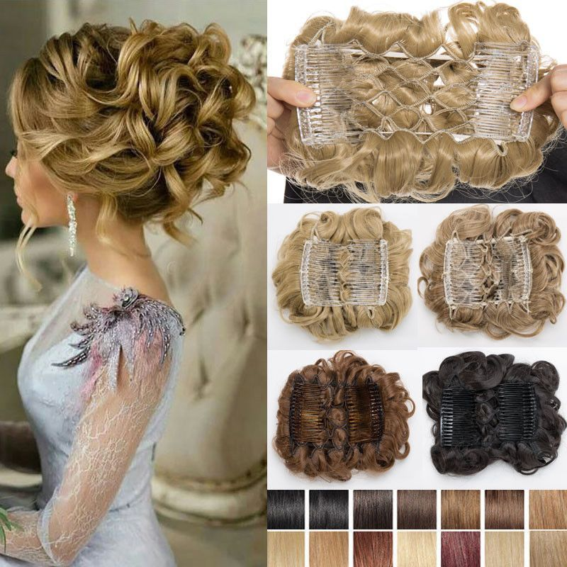 Real Soft Thick Chignon Updo 100 Real Ponytail Bun Clip In Hair