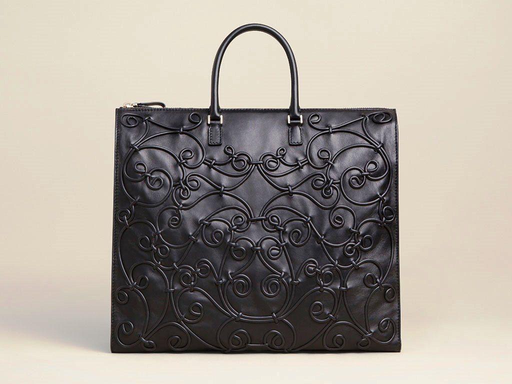 f7b1902927 Valentino Black Intrigate Tote Bag Fall 2013 | Valentino Bags ...