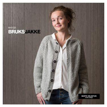 9da31253 Bruksjakke - Dame - Oppskrifter og materialpakker - Design by Marte Helgetun