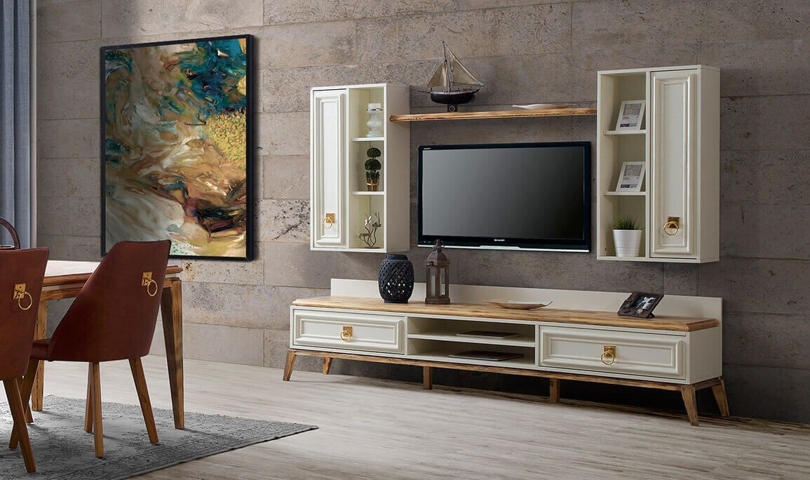 Beyond Tv Unitesi Ladin Ekru Modern Tv Uniteleri Fernseher Modern Selenay Tv Unitesi Ladin Ekru Medusa Home Tv Home Esszimmerkonsole Tv Mobel