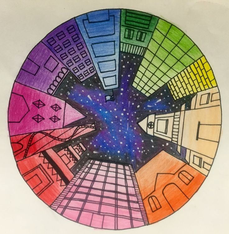 Objective Students Will Create A Color Wheel Using One Point Perspective Accurate Placement And Value CA Art Standards Idea For Grade