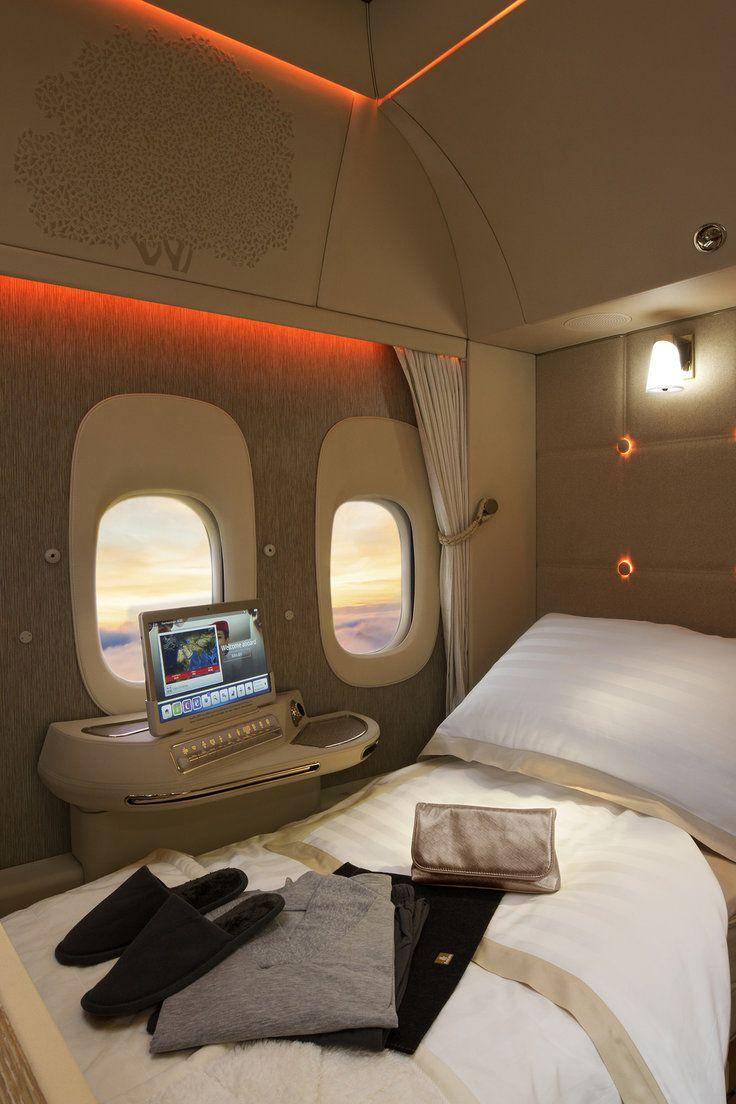 Emirates first class suites private jet interior luxury