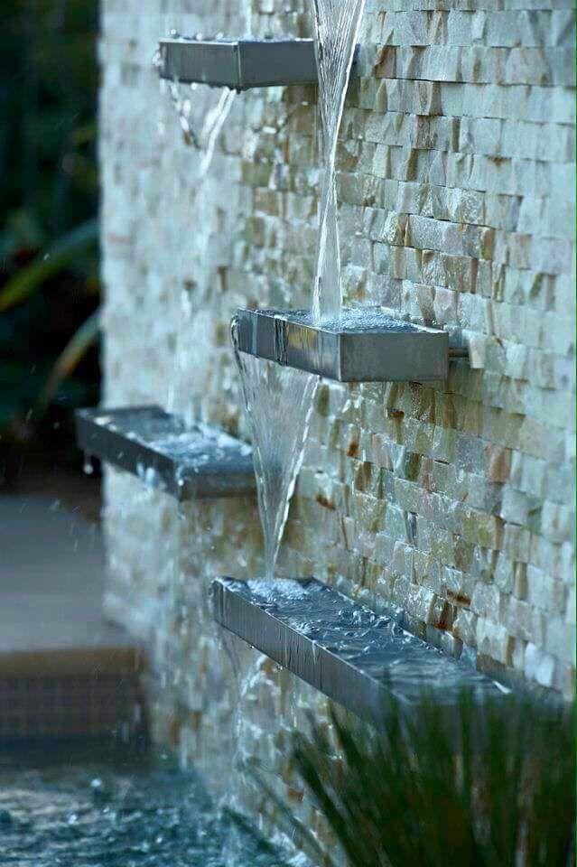Cascadas artificiales y muros de agua para la casa by - Fuentes de jardin de pared ...