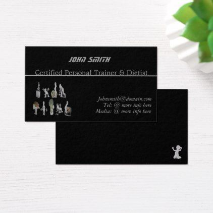 Custom Personal Trainer Tist Business Card Fitness Businesscards Instructor Cards