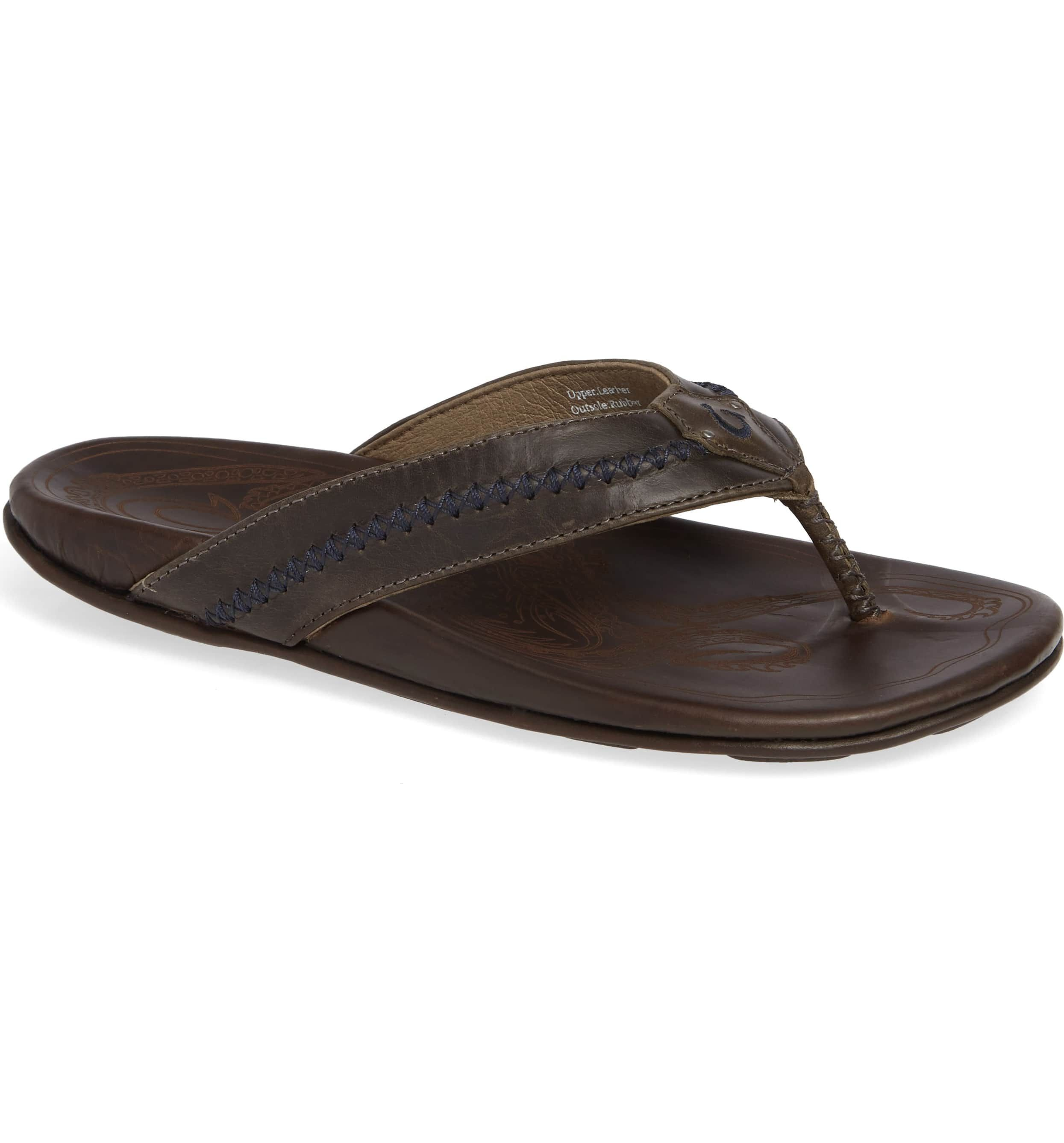 Webbing Brunello Cucinelli Flip Leather Flops Trimmed Cotton wR0qSTR