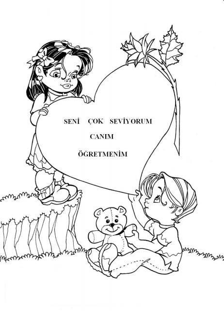 Ogretmenler Gunu Boyama Sayfalari Sanat Ogretmenler