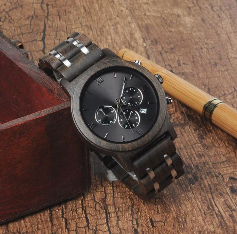 Mens Watch Wood Watch Gifts For Husband Wooden Watch Mens