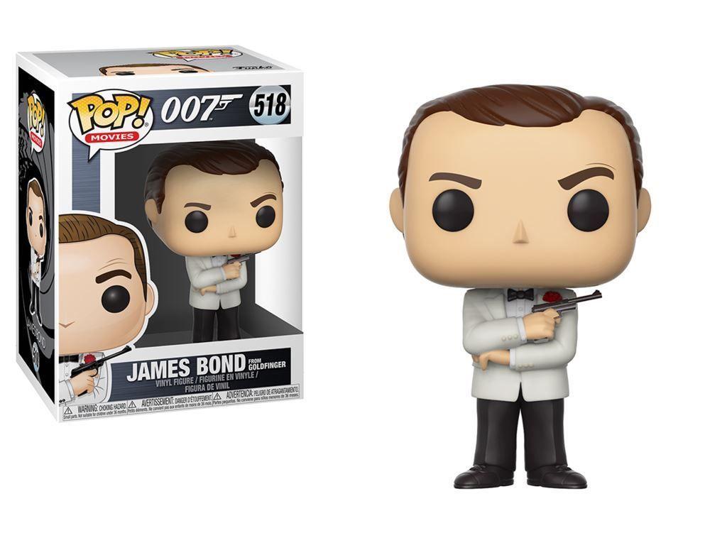 Funko POP NEW!!! 518 Movie 007  James Bond from Goldfinger